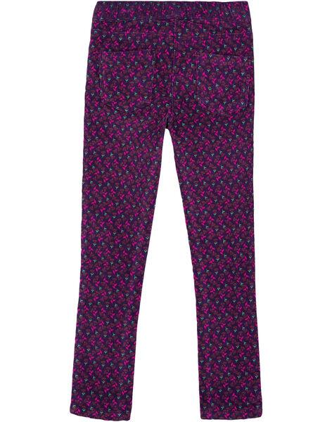 pantalon jegging en velours imprimé GAVIOPANT / 19W901R1PAN708