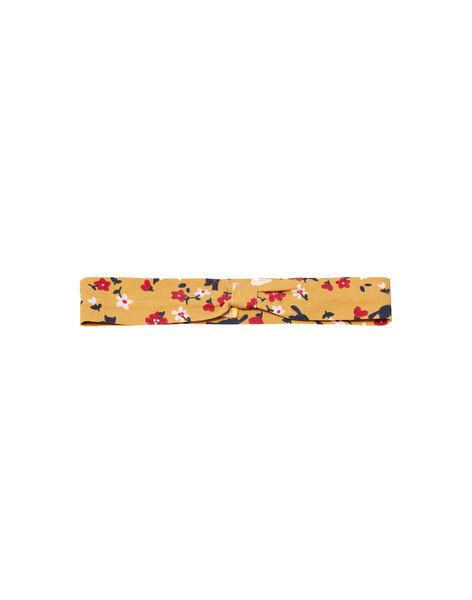 Bandeau jaune imprimé fleuri coloré bébé fille MYIMIXBAN / 21WI09J1BANB106