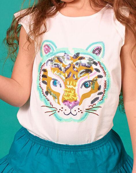 Tee Shirt Manches Courtes Ecru LAVERTI4 / 21S901Q4TMC001