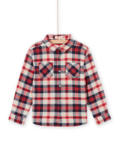 Chemise à carreaux en flanelle enfant garçon MOFUNCHEM / 21W902M1CHM810