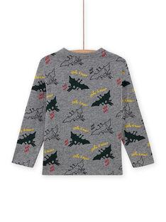 T-shirt gris chiné à imprimé dinosaure enfant garçon MOFUNTEE1 / 21W902M4TML943