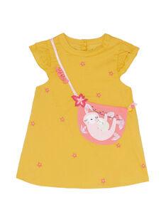 Robe moutarde bébé fille JIDUROB3 / 20SG09O1ROBB107