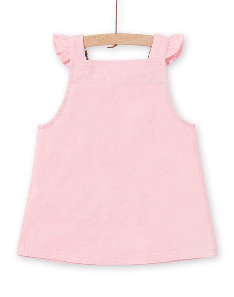 Robe-salopette velours côtelé rose bébé fille MIKAROB2 / 21WG09I2ROBD316
