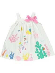 Robe à bretelles bébé fille CIMAROB1 / 18SG09U2ROB000
