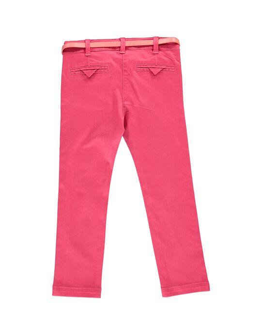 Pantalon en twill fille CAHOPANT / 18S901E1PANF503