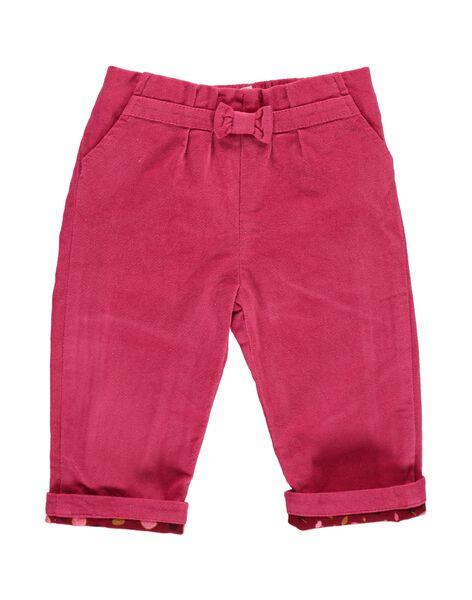 Pantalon en velours bébé fille DIPINPAN / 18WG09P1PAN302