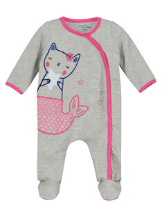 Dors-bien en coton bébé fille FEFIGRESIR / 19SH1393GRE943