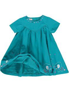 Robe manches courtes bébé fille CIDOUROB1 / 18SG09J1ROB202
