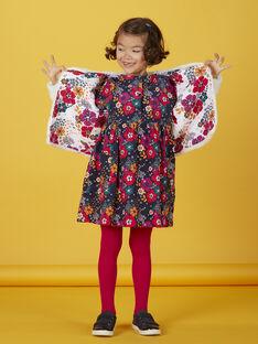 Robe manches longues en velours imprimé fleurie KALUROB1 / 20W901P3ROBC205