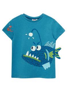 Tee Shirt Manches Courtes Bleu JOBOTI5 / 20S902H4TMC215