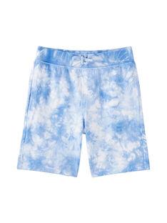 Bermuda garçon en molleton en véritable tye and dye JOQUABER4 / 20S902R2BER000