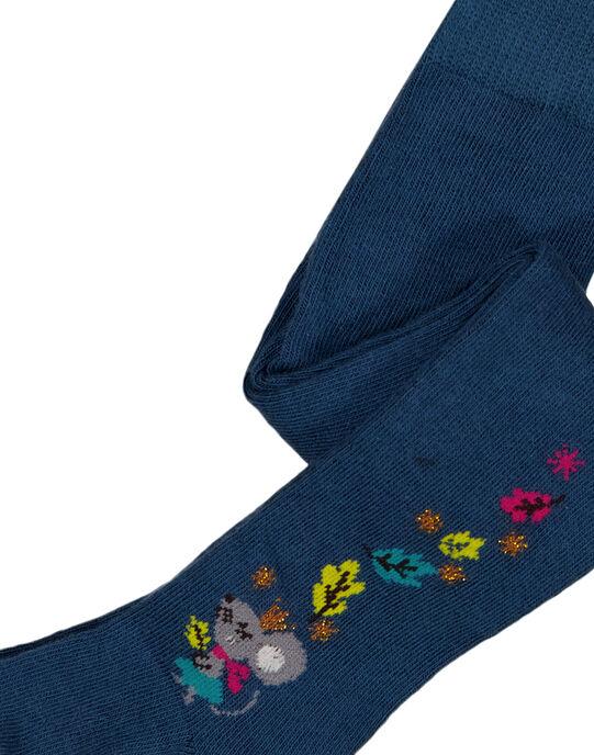 Collant en coton avec détails fleurs sur le coté.  GYITUCOL / 19WI09Q1COL714