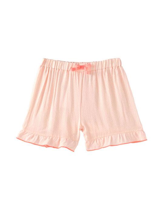 Pyjama court enfant fille rose pâle JEFAPYJ2 / 20SH11U2PYJD328