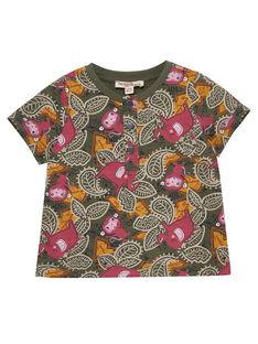 Tee Shirt Manches Courtes Kaki JUDUTUN / 20SG10O3TMC609