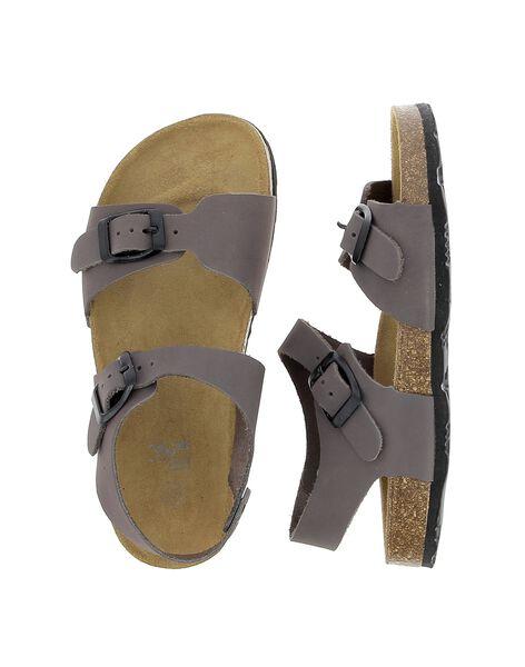 Sandale en cuir garçon CGNUGRIS / 18SK36W7D0E940