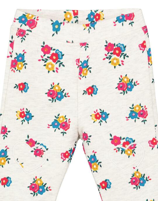 Pantalon Ecru chiné GIMUBAJOG / 19WG09F1PAN006