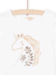T-shirt écru enfant fille MAJOYTEE3 / 21W90111TML001
