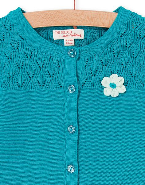 Cardigan Turquoise LIVERCAR / 21SG09Q1CARC216