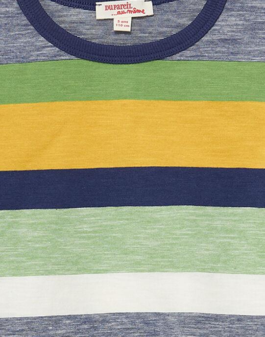 Tee shirt manches longues garçon rayé multicolore JOTROTEE1 / 20S902F1TMLC205