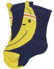 Chaussette bébé garçon bleu et jaune JYUVICHO2 / 20SI10D2SOQC225