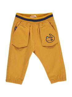 Pantalon jaune bébé garçon DUNAUPAN2 / 18WG10G2PAN101