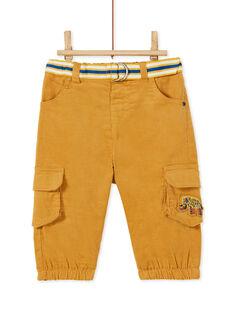 Pantalon velours côtelé à poches bébé garçon KUREPAN3 / 20WG10G1PANI807