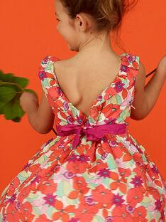Robe sans manches imprimé fleuri enfant fille LAVIROB1 / 21S901U1ROB000