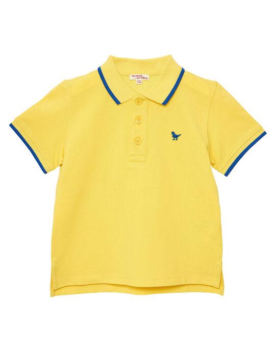 Polo garçon piqué jaune rayé au col JOJOPOL5 / 20S90255D2DB116