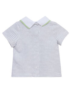 T-shirt manches courtes à rayures motif ananas JOU2TI1 / 20SF04M1TMC000