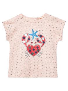 Tee Shirt Manches Courtes Rose JACEATI3 / 20S901N3TMC309