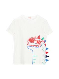 Tee-shirt rayé dinosaure garçon FOTOTI4 / 19S902L4TMC000