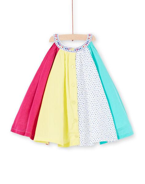 Robe patchwork colorée bébé fille JIMARROB2 / 20SG09P2ROB000