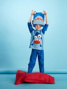 Pyjama déguisement bleu enfant garçon avec son range-pyjama JEGOPYJMAN4 / 20SH12L3PYGC238