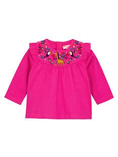 Tee Shirt Manches Longues Fuchsia GIMUTEE2 / 19WG09F2TML304