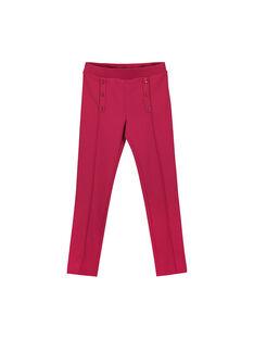 Pantalon maille milano rose fille FAJOPANT2 / 19S90131D2B304