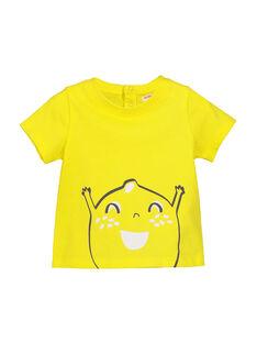 Tee Shirt Manches Courtes Jaune FUJOTI1 / 19SG1031TMC102