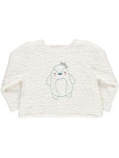 Gilet en tricot fantaisie bébé fille DIGICAR2 / 18WG09N2CAR001