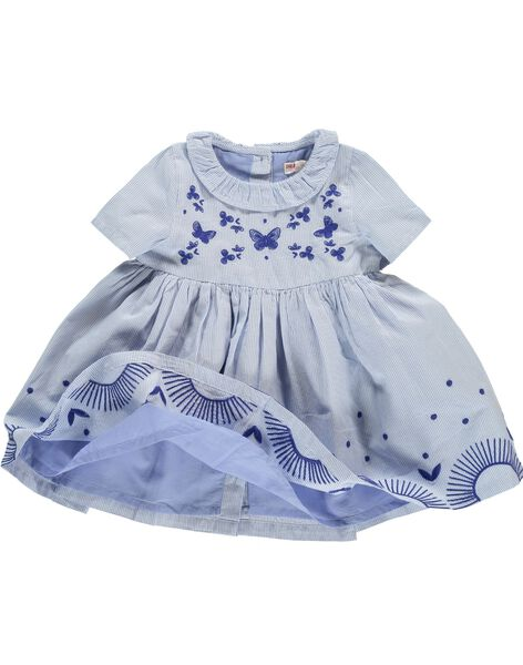 Robe manches courtes bébé fille CIKLEROB1 / 18SG09D3ROB099