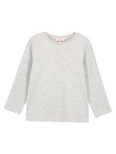 Tshirt Uni GRIS CHINE Manches longues GOESTEE3 / 19W902U2D32J922