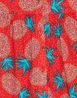 Robe à bretelle volantées, imprimé ananas JAJOSROB1 / 20S901T5ROB502
