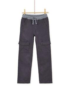 Pantalon cargo kaki enfant garçon KOJOPAMAT3 / 20W90238D2BJ912