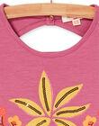 Débardeur, imprimé flamants roses et plamiers avec broderies LATERDEB2 / 21S901V2DEB322