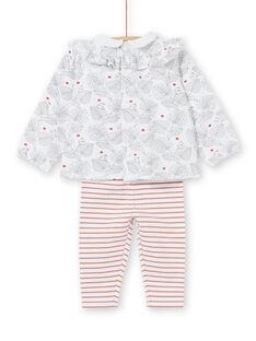 Ensemble blouse et legging naissance fille LOU1ENS2 / 21SF03H1ENS000