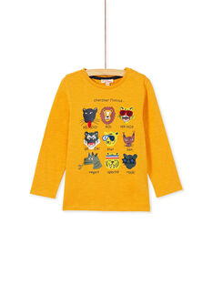 Tee shirt moutarde manches longues enfant garçon KOBRITEE2 / 20W902F1D5IB118