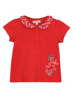 Tee-shirt col claudine bébé fille FITOBRA / 19SG09L1BRA330