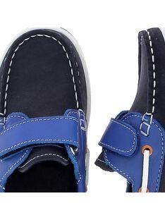 Chaussure bateau en cuir garçon CGBATVEL / 18SK36W1D4NC218