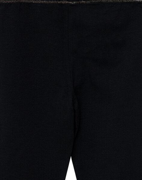 Legging uni noir enfant fille JYAESLEG1 / 20SI0162D26090