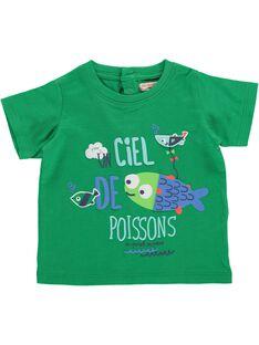 Tee-shirt manches courtes bébé garçon CUMATI1 / 18SG10U1TMC600