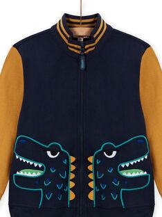 Gilet jaune et bleu marine enfant garçon MOTUGIL1 / 21W902K1GIL705