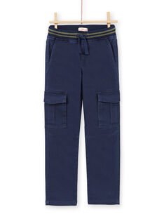 Pantalon bleu foncé enfant garçon MOJOPAMAT1 / 21W90228PAN705